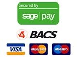 All payments secured by SagePay